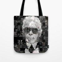 karl lagerfeld Tote Bags featuring Karl Lagerfeld by Artstiles