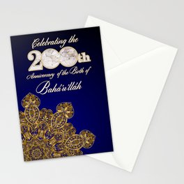 Bicentennial graphics - gold star Stationery Cards