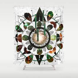 Galaxy Mandala Shower Curtain