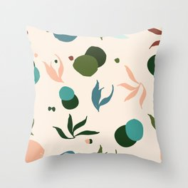 Sea things pink Throw Pillow