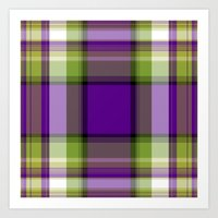plaid Art Prints featuring Plaid by Kevin Rogerson