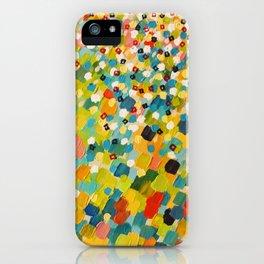 SWEPT AWAY 3 - Fresh Green Colorful Rainbow Ocean Waves Mermaid Splash Abstract Acrylic Painting iPhone Case
