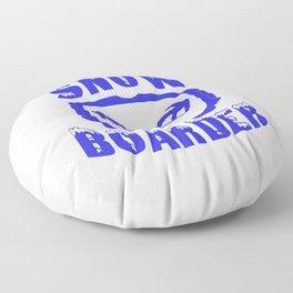 snowboarding snow goggles boarder sport Floor Pillow