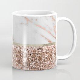 Warm chromatic - rose gold marble Kaffeebecher