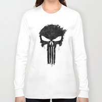 punisher Long Sleeve T-shirts featuring Punisher Black by d.bjorn