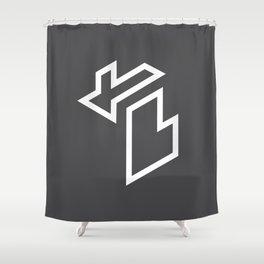 Isometric Michigan Shower Curtain