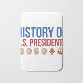 History of the US President Trump Clown Gift Bath Mat