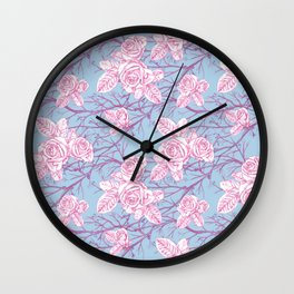Antique rose and vine Wall Clock