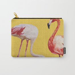 Bold Flamingo Caribbean and Tropical inspired design Carry-All Pouch