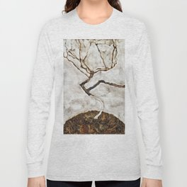 Egon Schiele - Small Tree In Late Autumn Long Sleeve T-shirt