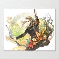 legolas Canvas Prints featuring Legolas by kagalin