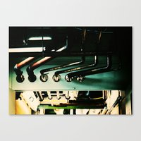 industrial Canvas Prints featuring Industrial by Nina Saunders