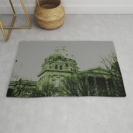 Guilded in Green (Des Moines, Iowa Capital) Rug