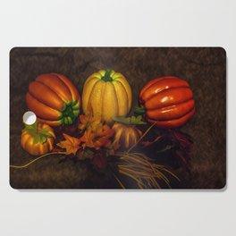 Autumn Pumpkins Cutting Board