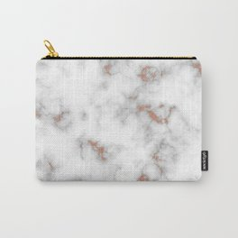 Rose gold gray and white marble Carry-All Pouch