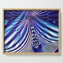 7694s-KMA Abstract Blue Nude Intimate Sexy Hot Serving Tray