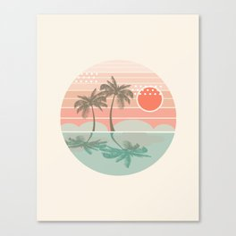 Dang - beach vibes minimal sunset sunrise ocean surfing nature palm tropical socal cali 70s style Canvas Print