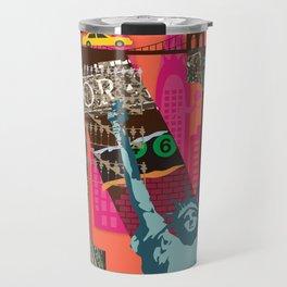 Mews in NewYork (Typography) Travel Mug