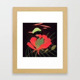 Phoenix Flower Framed Art Print
