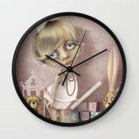 teacher Wall Clocks featuring The teacher by daltrOnde