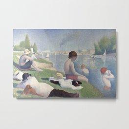 Georges Seurat - Bathers at Asnieres Metal Print