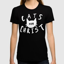 Cats for Christ x Navy T-shirt