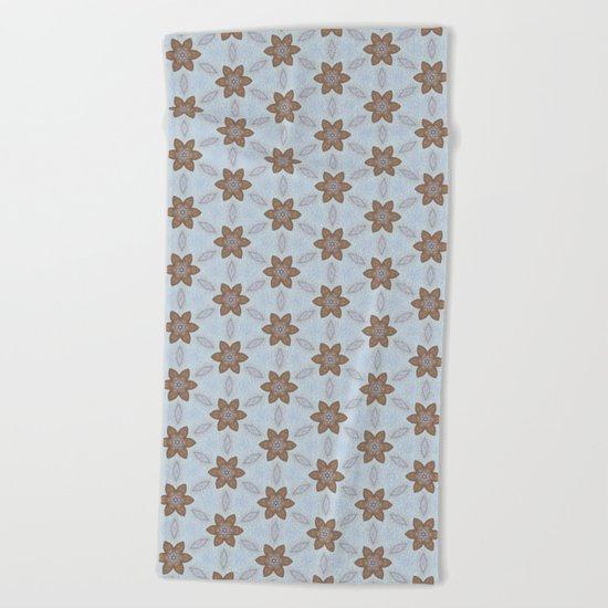 Flower Abstract Beach Towel