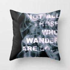 Smoke Quote Throw Pillow