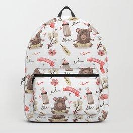 Cute Baby Pattern Bear Design. Backpack