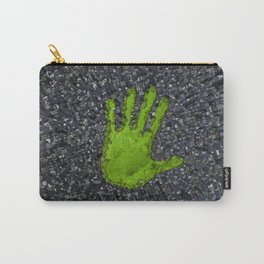 Carbon handprint / 3D render of modern city with handprint shaped park Carry-All Pouch