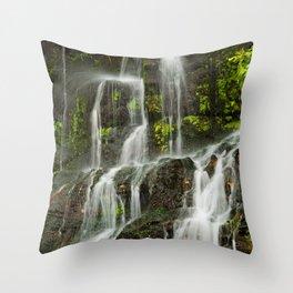 Ho Opi'i Waterfall  Throw Pillow