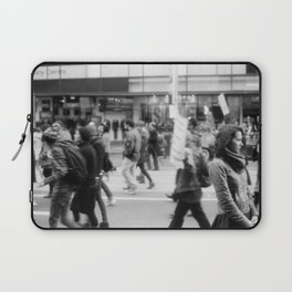 Young Woman At Refugee March 2013 Laptop Sleeve