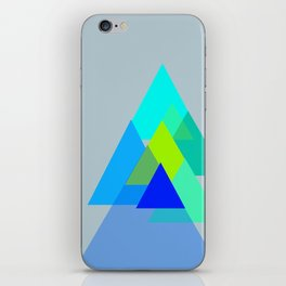 Triangles - blues color scheme iPhone Skin