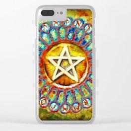 Rune Circle Pentagram Clear iPhone Case