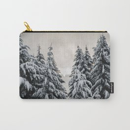Winter Woods II - Snow Capped Forest Adventure Nature Photography Carry-All Pouch
