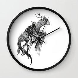Magpie Dragon Wall Clock