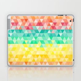 Rainbow triangles Laptop & iPad Skin