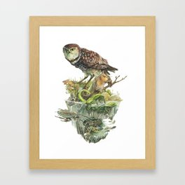 Sawtooth Biome Framed Art Print