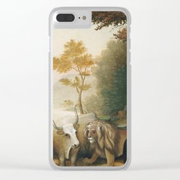 Edward Hicks - A Peaceable Kingdom Clear iPhone Case