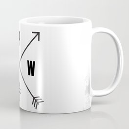 PNW Pacific Northwest Compass - Black and White Forest Coffee Mug