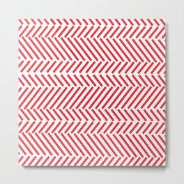 Trigonometric Red Metal Print