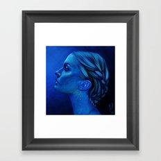 Blauw Framed Art Print