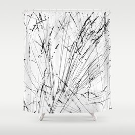Winter Grasses Shower Curtain