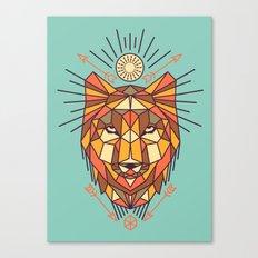 Geometric Wolf Canvas Print