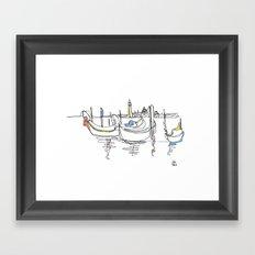 Gondolas Framed Art Print