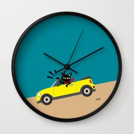 Whim in the car Wall Clock