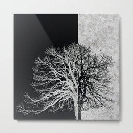 Natural Outlines - Tree Black & Concrete #295 Metal Print