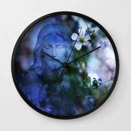 Jesus Christ In The Garden By Annie Zeno Wall Clock