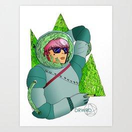 Cosmic Smoker Art Print