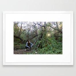 Forest TeePee Framed Art Print